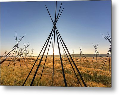 Site Of Chief Joseph Of The Nez Perce Metal Print by Chuck Haney