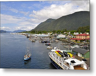 Sitka Channel Metal Print by Cathy Mahnke