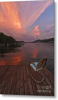 Sittin' On The Dock Metal Print by Dennis Hedberg