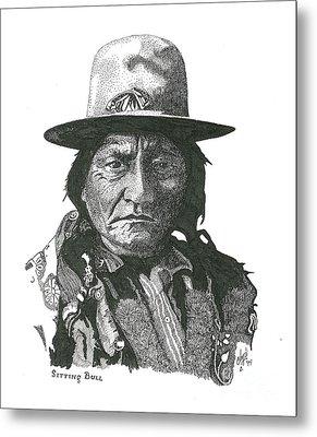 Sitting Bull Metal Print by Clayton Cannaday