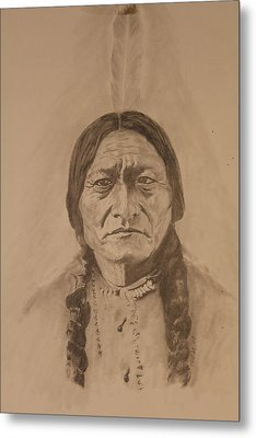Sitting Bull Metal Print by Michael McGrath