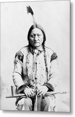 Sitting Bull Metal Print by War Is Hell Store