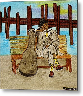 Sitting On The Dock Of The Bay Metal Print by Celeste Manning