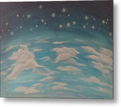 Metal Print featuring the painting Sitting On Top Of The World by Thomasina Durkay