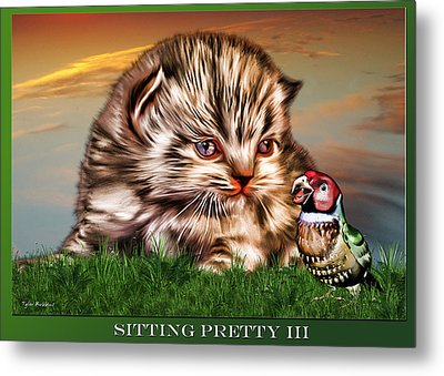 Metal Print featuring the painting Sitting Pretty 3 by Tyler Robbins