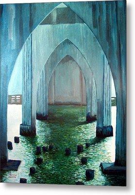 Siuslaw River Bridge Metal Print