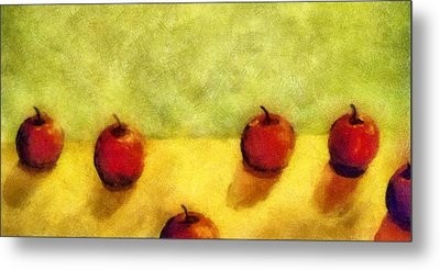 Six Apples Metal Print by Michelle Calkins