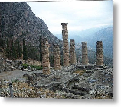 Six Columns Metal Print by Marilyn Zalatan