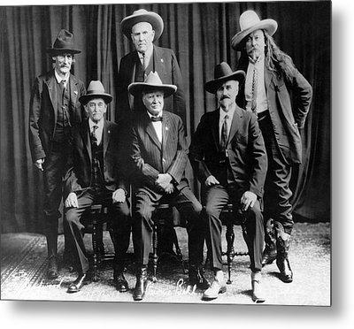 Six Famous Frontiersmen Metal Print by Underwood Archives