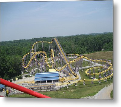 Six Flags America - 12121 Metal Print by DC Photographer