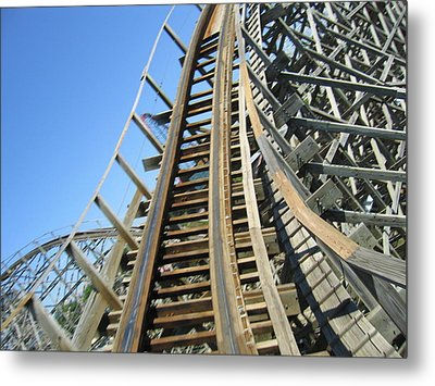 Six Flags America - Roar Roller Coaster - 12123 Metal Print by DC Photographer