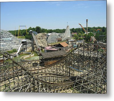 Six Flags America - Wild One Roller Coaster - 121210 Metal Print by DC Photographer