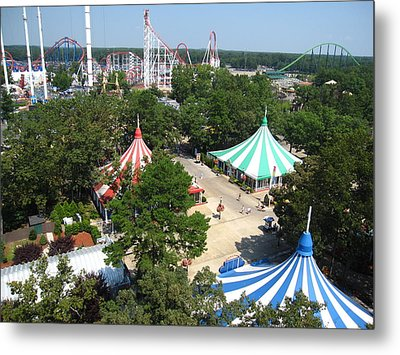 Six Flags Great Adventure - 121210 Metal Print by DC Photographer