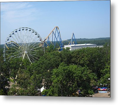 Six Flags Great Adventure - 12127 Metal Print by DC Photographer