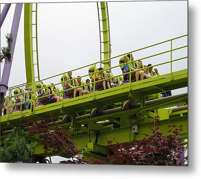 Six Flags Great Adventure - Medusa Roller Coaster - 12121 Metal Print by DC Photographer