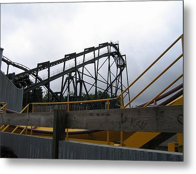 Six Flags Great Adventure - Nitro Roller Coaster - 12122 Metal Print by DC Photographer
