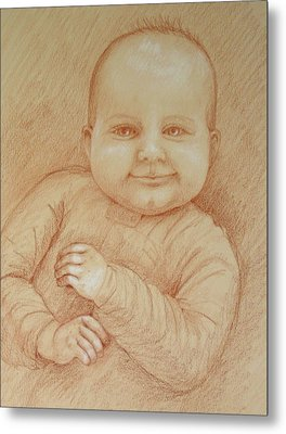 Six Months Old Metal Print by Deborah Dendler