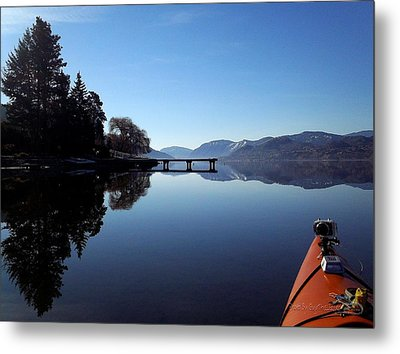 Skaha Lake Calm 2 Metal Print