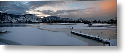Skaha Lake Sunset Panorama 02-27-2014 Metal Print