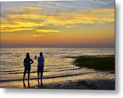 Skaket Beach Sunset 4 Metal Print by Allen Beatty