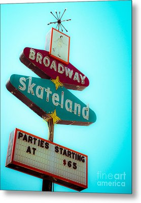 Skateland Metal Print by Sonja Quintero