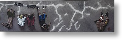 Skater Boys Metal Print by Cristel Mol-Dellepoort