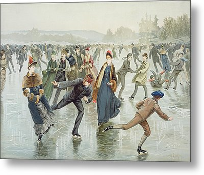 Skating Metal Print by Harry Sandham