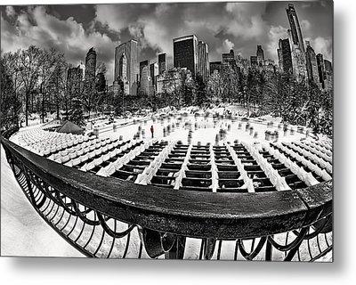 Skating In Central Park Metal Print by Susan Candelario