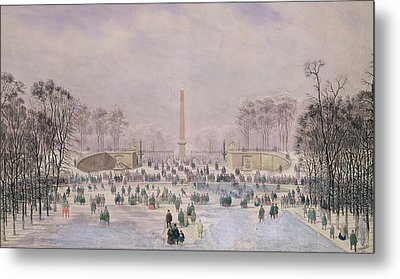 Skating In The Tuileries Metal Print by Theodore Jung
