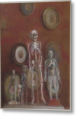 Skeleton Cabinet Metal Print by Paez  Antonio