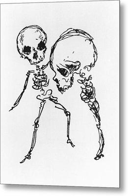 Skeletons, Illustration From Complainte De Loubli Et Des Morts Metal Print