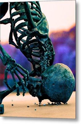 Skelton  Metal Print by Jon Baldwin  Art