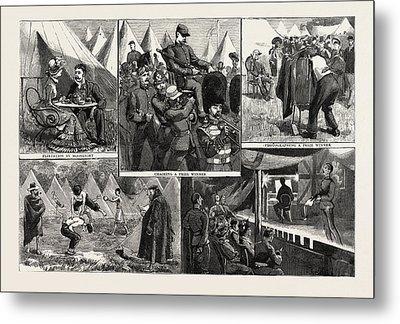 Sketches At The Volunteer Camp, Wimbledon, Engraving 1884 Metal Print