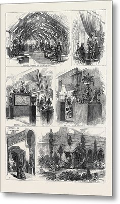 Sketches In The International Exhibition 1871 Metal Print