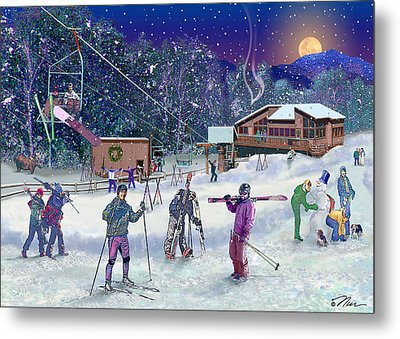 Ski Area Campton Mountain Metal Print by Nancy Griswold