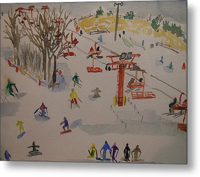 Ski Area Metal Print by Rodger Ellingson