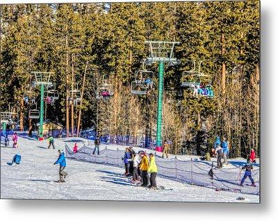 Ski Day Metal Print by Tammy Espino
