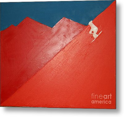 Ski Deer Valley Park City Metal Print by Richard W Linford