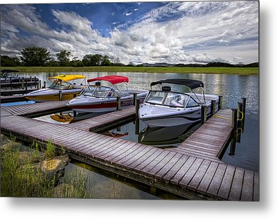 Ski Nautique Metal Print by Debra and Dave Vanderlaan