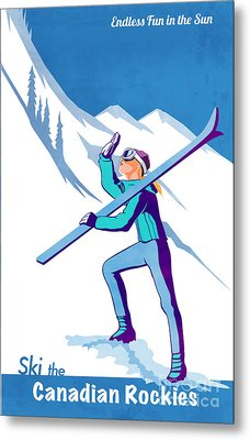 Ski The Rockies Metal Print by Sassan Filsoof