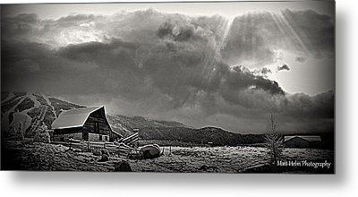 Ski Town Skies Metal Print by Matt Helm