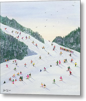Ski Vening Metal Print by Judy Joel