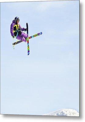 Ski X Metal Print