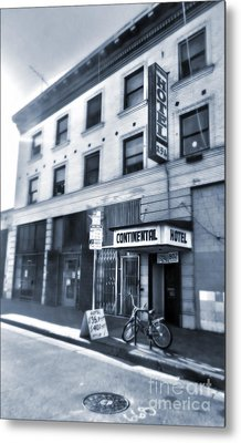Skid Row Hotel Metal Print by Gregory Dyer