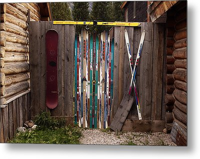 Ski'd Up Metal Print by Lori Knisely
