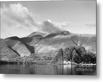 Skiddaw And Friars Crag Mountainscape Metal Print by Linsey Williams