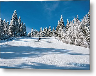 Skiers Paradise Metal Print by Sharon Seaward