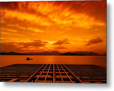 Skies Ablaze - One Metal Print