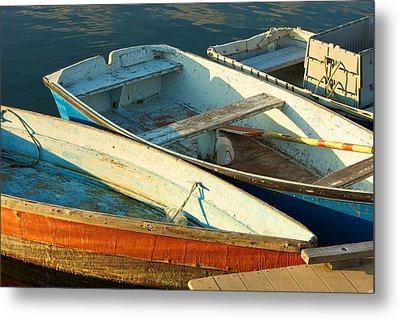 Skiffs Rockport Harbor Metal Print by Gail Maloney