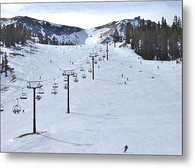Skiing Mammoth Metal Print
